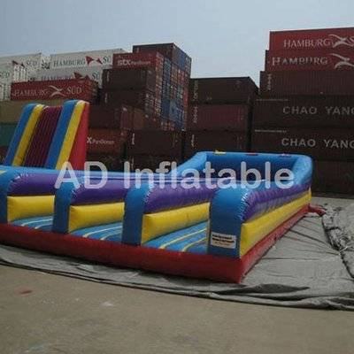 Inflatable triple lane bungee run, 3 lane inflatable bungee run interactive game