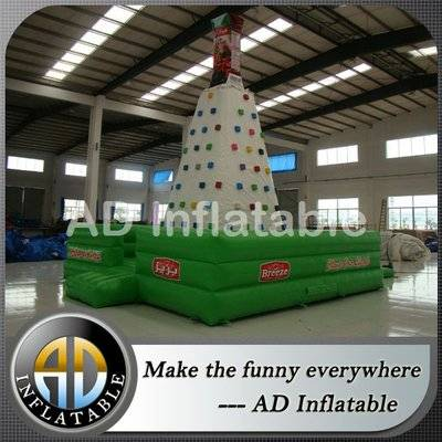 Children inflatable climbing wall, children inflatable rock climbing wall 4.5m