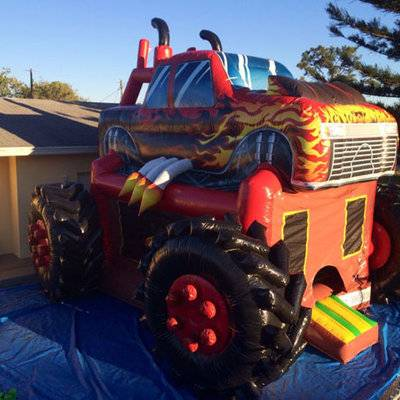 Commercial monster truck inflatable bouncer for sale, mouster truck inflatable castle