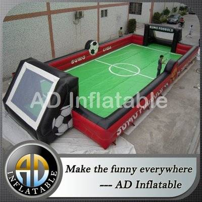 Durable School Inflatable Sports Games Soccer Arena Football Pitch