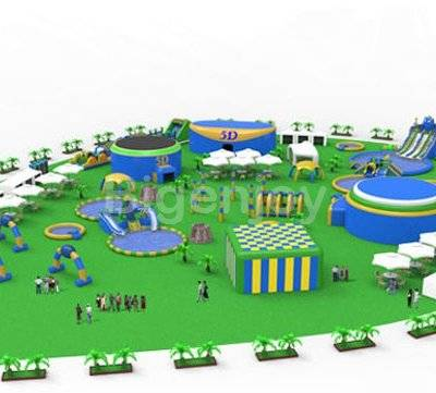 PVC tarpaulin giant inflatable floating water park