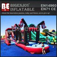 Pirate Slide with Slip,Pirate Slip-N-Slide,Inflatable Slide with Slip-N-Slide
