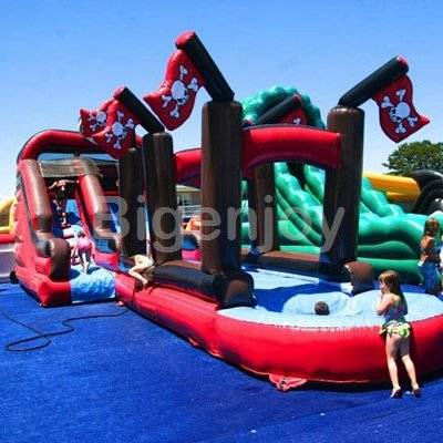 Pirate Slide with Slip-N-Slide