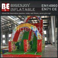 Colorfu inflatable slide,circus clown inflatable slide,happy clown inflatable slide