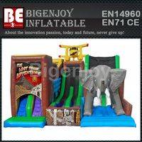 Jungle inflatable slide,theme inflatable slide,adventure inflatable slide