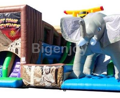 Jungle adventure theme inflatable slide