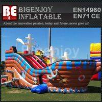 Pirate Ship Small Inflatable Slide,Inflatable Slide for Kids Amusement,Pirate Ship Inflatable Slide