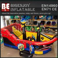 Attractive pirate ship slide,inflatable pirate ship slide,giant inflatable ship slide