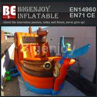 Giant inflatable dry slide,Pirate Ship theme dry slide,inflatable dry slide