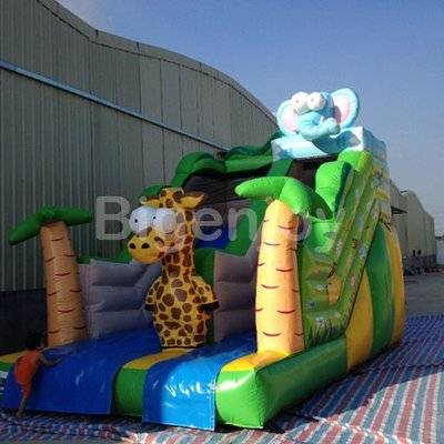 Giraffe inflatable animals slide