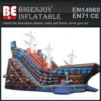 Bouncy inflatable pirate ship slide,pirate ship slide 4 in 1 combo,inflatable 4 in 1 combo