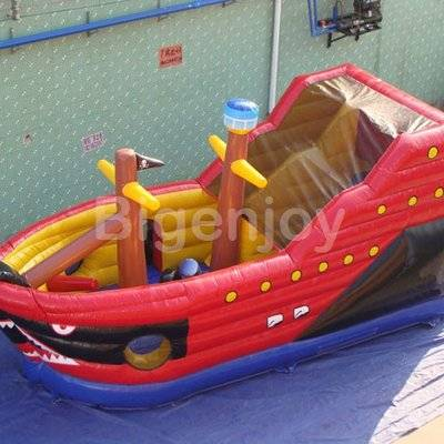 Inflatable pirate ship jumping slide with high quality