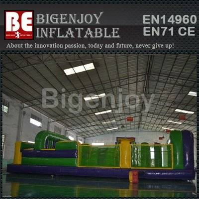 7 Element 35ft Obstacle Course Inflatable Tunnel Obstacle Course