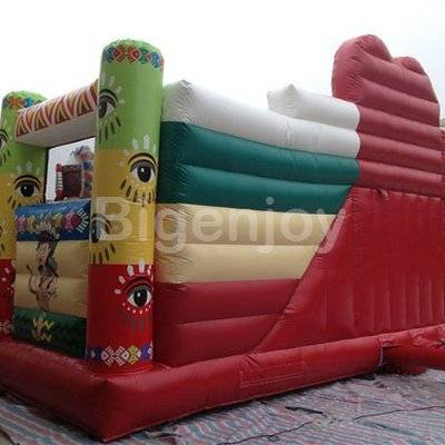 Indians inflatable kids play obstacle course