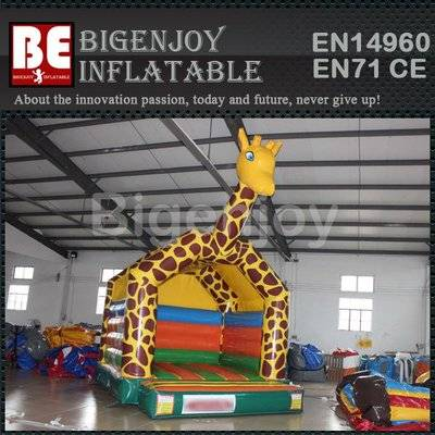 PVC material jumping giraffe bouncer for sale