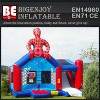 Advertising inflatable,spiderman hut bounce,inflatable spiderman bounce