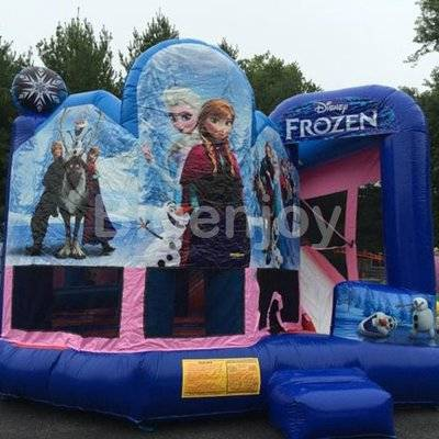 Princess clown Frozen inflatable bouncer with slide