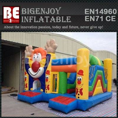 New inflatable clown jumping combo
