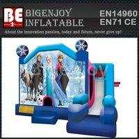 Frozen inflatable castle,inflatable castle combo,combo bounce house