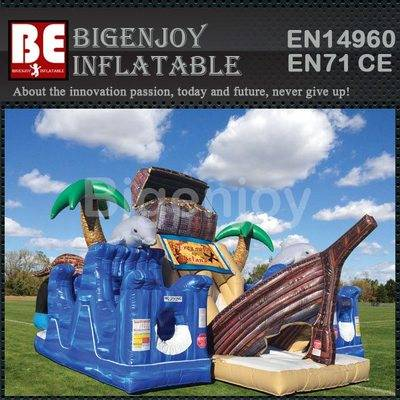 One Piece Treasure Inflatable Bouncer Slider