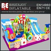 Big inflatable circus,inflatable bouncer playground,circus troup bouncer playground