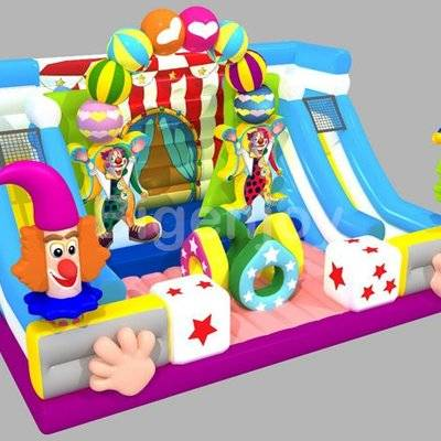 Big inflatable circus troup bouncer playground