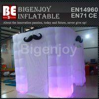 Portable inflatable photo booth,photo booth with LED,inflatable booth with LED