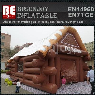 Inflatable Log Cabin Tent
