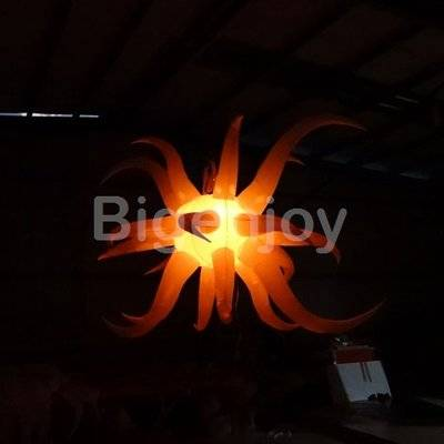 Colourful lighting decoration inflatable star