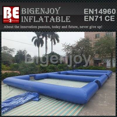Triple inflatable panna soccer field