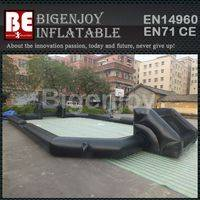 Inflatable human football pitch,football pitch with custom logo,Inflatable football pitch
