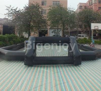 Inflatable human size table football pitch with custom logo