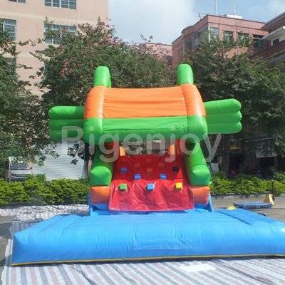 Funny fish jumping castles inflatable slide