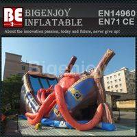 Octopus pirate ship,ship inflatable slide,Octopus inflatable slide