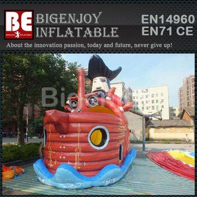 Commercial inflatable pirate ship slide