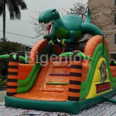 Dinosaur slide inflatable dry slide