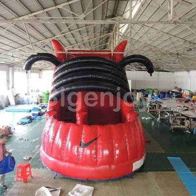 Shoes castle inflatable bouncer and slide