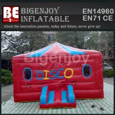 Hot selling advertisng inflatable disco bounce tent