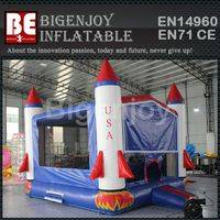 USA Rocket inflatable,inflatable castle for jumping,Rocket inflatable castle