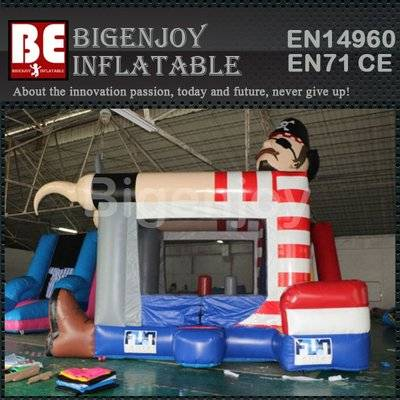 Custom inflatable pirate captain tunnel