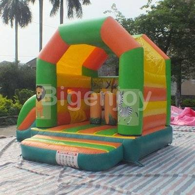 Baby inflatable bouncer with small slide