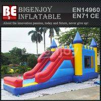 Inflatable combo,Inflatable trampoline and slide,combo with slide