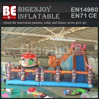 Pirate inflatable movable playground