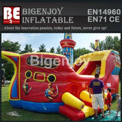 Inflatable Buccaneer bouncer combo