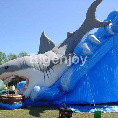 Kids used inflatable shark water slide for sale