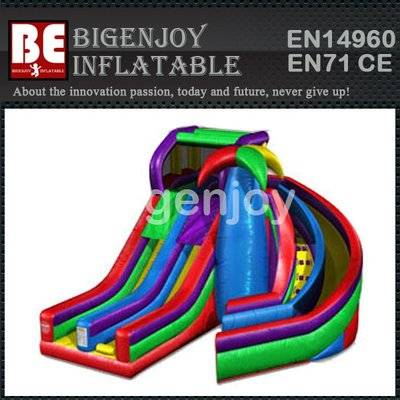 Commercial inflatable Dual Spiral Slide