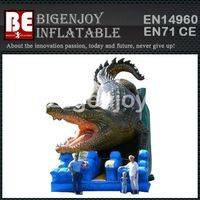 Crocodile Themed inflatable,inflatable combo slide,Crocodile slide