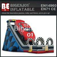 Inflatable dry slide,Vicotry Lap car dry slide,Inflatable slide