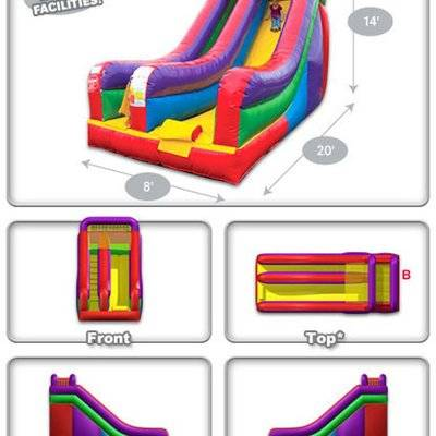 Deluxe inflatable dry slide for kids play