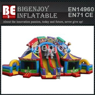 Child outdoor bouncy circus inflatable slide